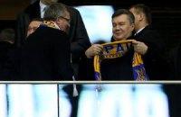Янукович отметил слаженную игру сборной Украины