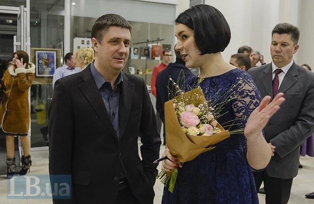 Вячеслав Кириленко, министр культуры Украины, Соня Кошкина и Ростислав Карандеев (справа)