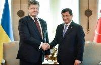 Порошенко в Анкаре провел двухчасовую встречу с турецким премьером