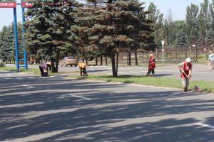 В Енакиево наводят марафет к приезду Януковича