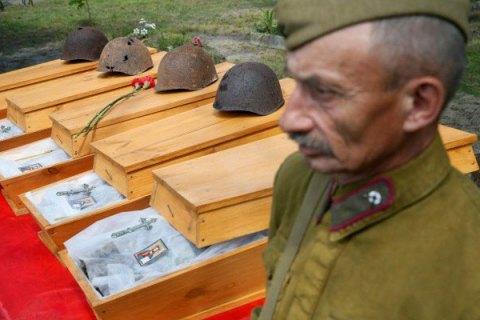 В Киевской области перезахоронили шестерых солдат Красной армии