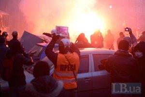 Одного из операторов ранили на Грушевского из огнестрельного оружия