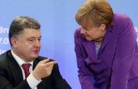 Порошенко обсудил с Меркель финансовую помощь Донбассу