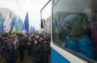 В оппозиции говорят, что власти блокируют митинг во Львове