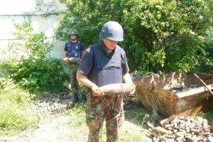 На Днепропетровщине обезвредили 628 снарядов времен ВОВ