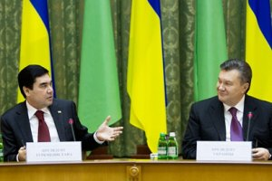 Янукович в присутствии главы Туркменистана назвал его страну Казахстаном