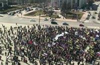В Донецке прошел митинг за референдум и Януковича