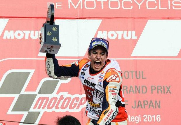 Маркес стал трехкратным чемпионом мира пошоссейно-кольцевым гонкам вклассе MotoGP