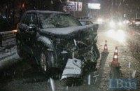 Пьяный водитель спровоцировал огромный затор на Воздухофлотском проспекте в Киеве