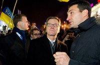 Глава МИД Германии пришел на Майдан