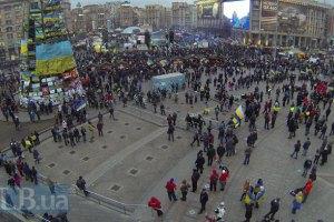 Ночь на Майдане прошла спокойно
