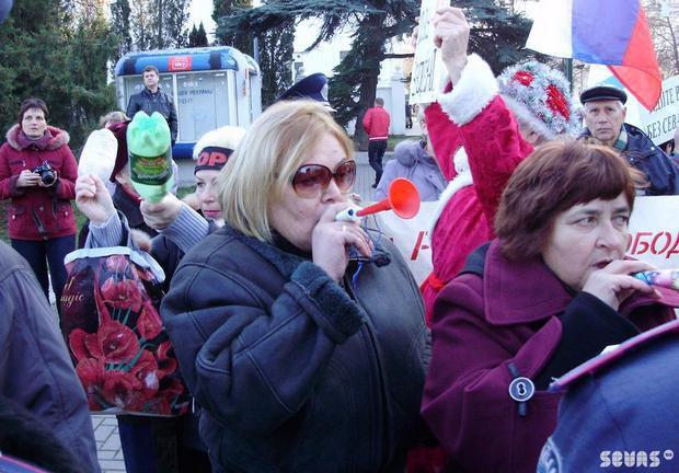 Акция против Майдана в Севастополе