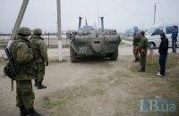 К Джанкою движется колонна военной техники РФ