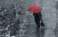 В среду в Киеве обещают небольшой мокрый снег