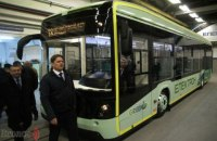 Во Львове презентовали первый украинский электробус