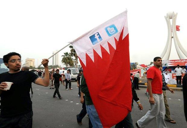 Антиправительственный митинг в Бахрейне