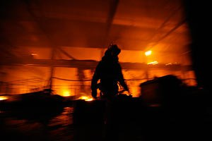 В Харькове на четырех избирательных участках вспыхнул пожар