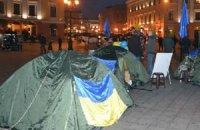Неизвестные разгромили палаточный городок на одесском евромайдане