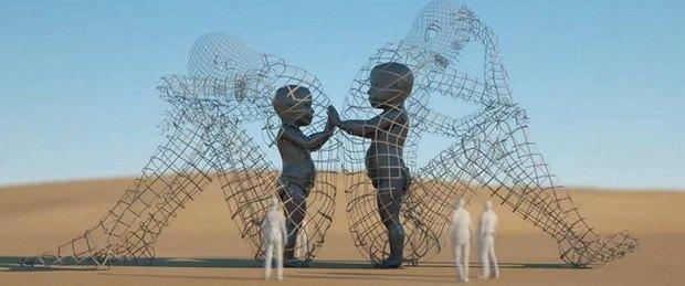 На фестивалі Burning Man з'явилася інсталяція художника з України (фото)