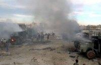 На границе с Турцией разбомбили гуманитарную колонну