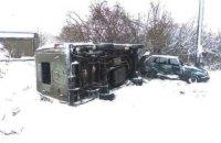 В Черниговской области перевернулся микроавтобус со школьниками
