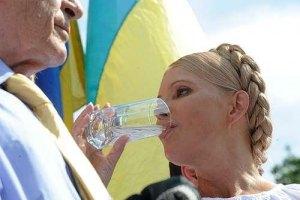 Тимошенко прекратит голодовку завтра