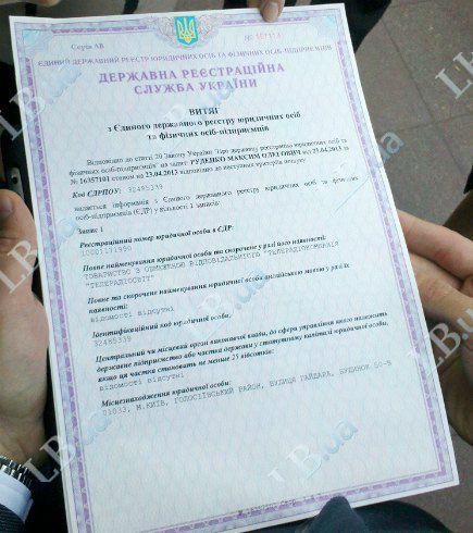 Документы Шевченко