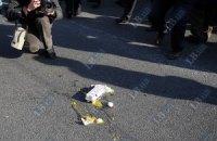 Билборд с Януковичем забросали яйцами
