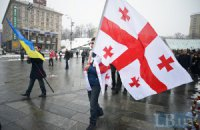 На Майдане простились с погибшим на Донбассе добровольцем из Грузии