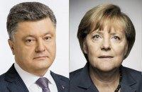 Порошенко обсудил с Меркель Донбасс, санкции, евроинтеграцию и газ