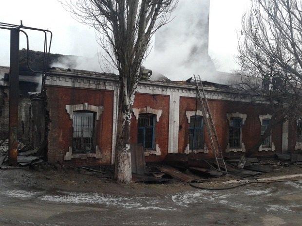 УМаріуполі сталася пожежа наметкомбінаті Ілліча