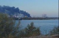 На нефтеперерабатывающем заводе в Румынии произошел пожар