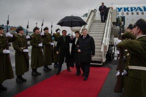 Визит Порошенко с женой вЭстонию
