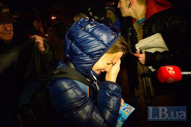 Евгения Змановская - журналистка LifeNews, в которую бросили яйцо и брызнули слезоточивым газом активисты