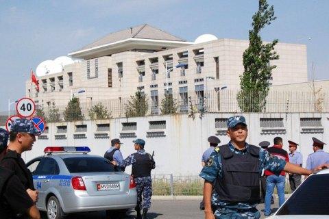 Посольство Китая вКиргизии после взрыва. Видео сместа теракта