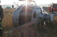 В Хмельницкой области упал вертолет, пилот в больнице