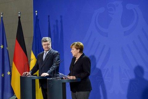 """Порошенко и Меркель договорились о встрече в """"нормадском формате"""" на следующей неделе"""