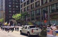 Украинцы приняли участие в военном параде в Чикаго