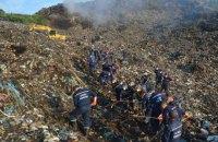 На сміттєзвалищі, що горіло під Львовом, знайшли тіло людини