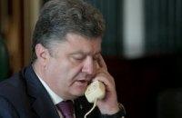 Порошенко потребовал от Путина освобождения пленных