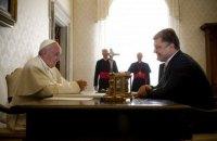 Порошенко встретился с Папой Римским