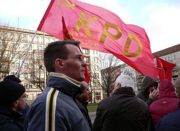 Мітинг пам`яті Рози Люксембург та Карла Лібкнехта комуністичної партії КПД