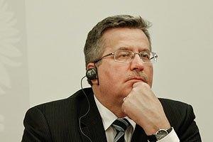 Коморовский похвалил Украину за прогресс