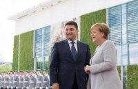 Меркель приняла Гройсмана