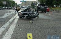 В Киеве водитель-нарушитель без прав сбил мотоциклиста