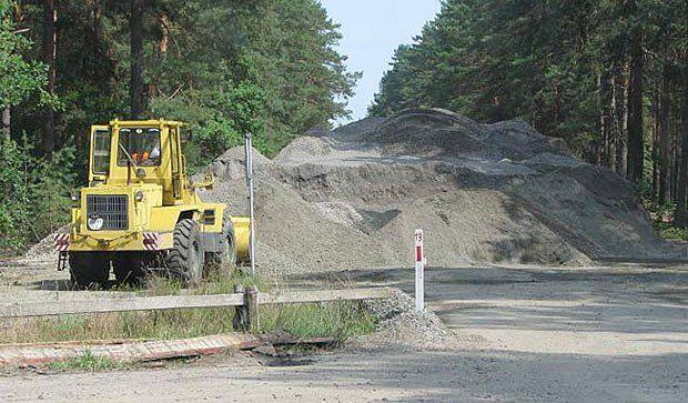 Будівництво доріг у Дніпровсько-тетерівському лісомисливському господарстві