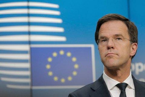 Рютте неуверен, что Нидерланды одобрят ассоциациюЕС с государством Украина квесне
