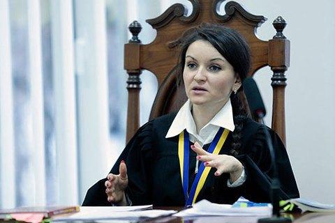 Экс-судья Царевич отозвала иск к президенту о незаконности своего увольнения