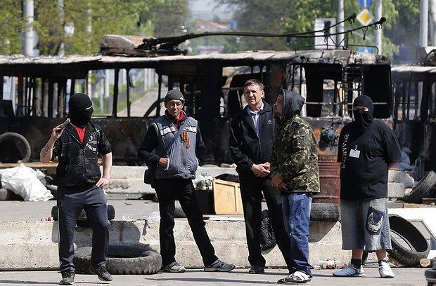 Сепаратисты в Краматорке в мае 2014 г