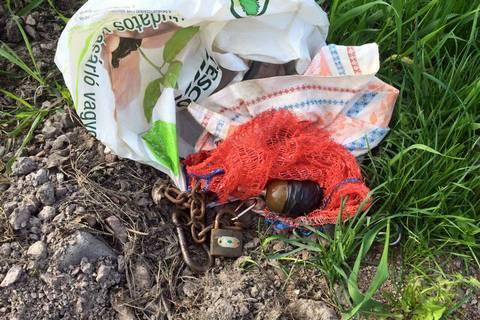 Главе коростенского Госгеокадастра подложили растяжку с гранатой